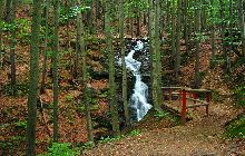 The Huťský waterfall in Rokytnice nad Jizerou – Apartments Ilona